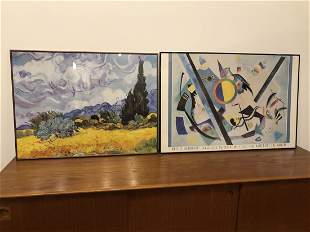 Vintage Kandinsky and Van Gogh Art Posters