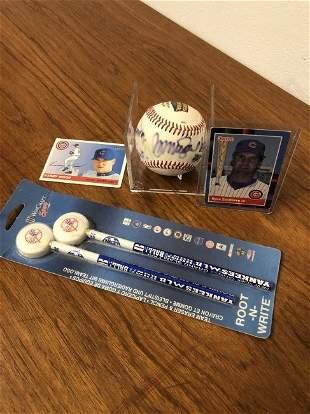 Autographed Ryne Sandberg Baseball Etc