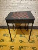Folk Art Checkerboard Table