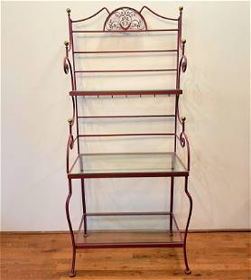 Wrought Iron Country French Baker's Rack