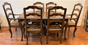 Country French Dining Room Table & Chairs