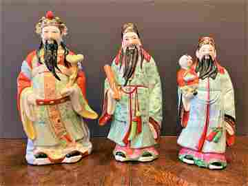 Set 3 Chinese Porcelain Figurines