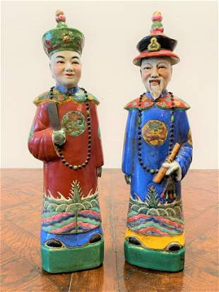 Pair Chinese Porcelain Figurines