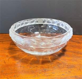 Rene Lalique Bowl w Bird Trim