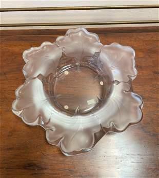 Substantial Rene Lalique Leaf Bowl