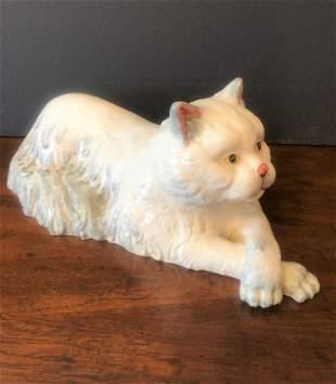 Mid Century Italian Porcelain Cat