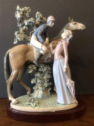 Jockey and a Lady Lladro