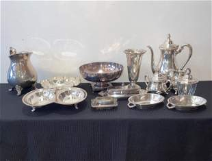 Collection Vintage Silver Plate Articles Wallace,