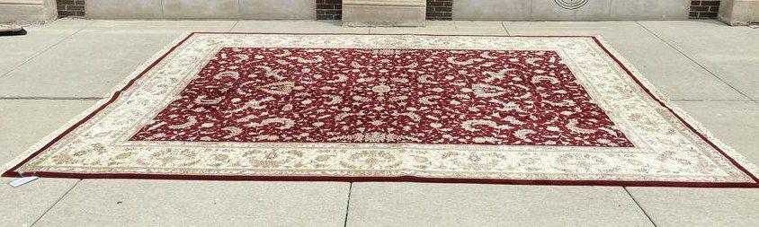 Tabriz Hand Woven Oriental Rug Wool & Silk