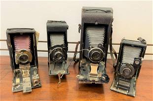 Collection 4 Antique Cameras