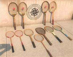 Collection Vintage Tennis Racquets Deadstock Sport