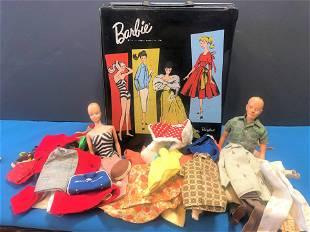 Vintage Barbies Original Bathing Suit and Case
