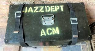 Vintage 1950's Jazz Band Rolling Trunk
