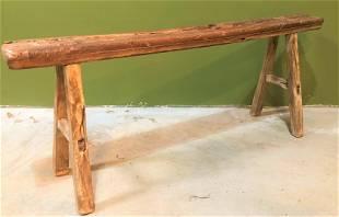 Chinese Elm Narrow Bench