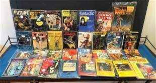 30 Sci-Fi Pulp Fiction & True Crime Magazines 1950s