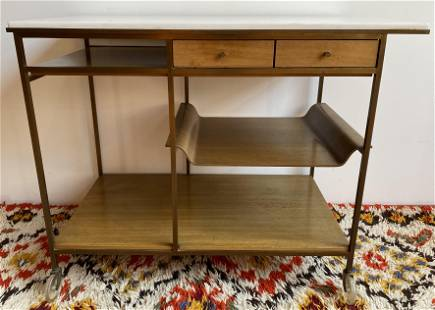 Paul McCobb The Irwin Collection Rolling Bar Cart