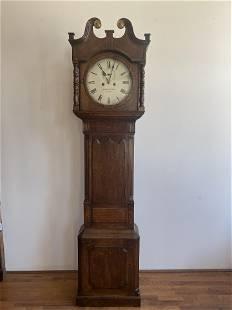 19th C English Longcase Grandfathers Clock