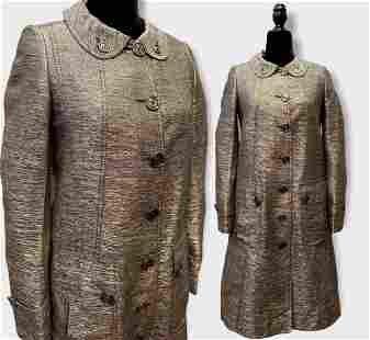 BURBERRY Ladies Gold Metallic Coat