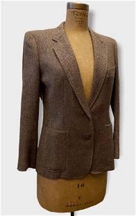 Vintage GUCCI Ladies Brown Tweed Blazer