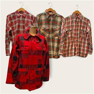 4 pc Vintage WOOLRICH Plaid Chore Jacket & Flannel