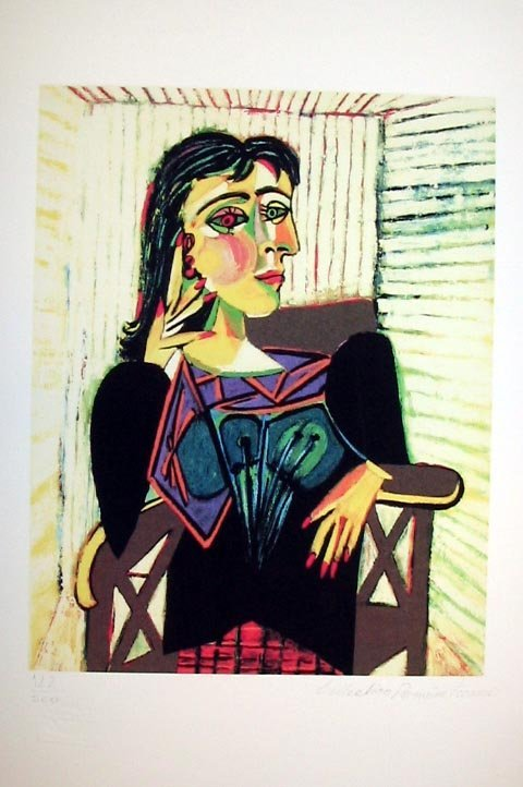 402: Pablo Picasso - Portrait of Dora Maar Seated Litho