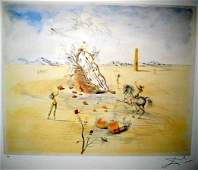 SALVADOR DALI LTD ED 187 of 500 Litho - Cosmic Hor