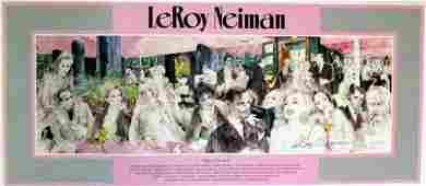 1921 LEROY NEIMAN LTD ED OE Litho  Polo Lounge Hand S