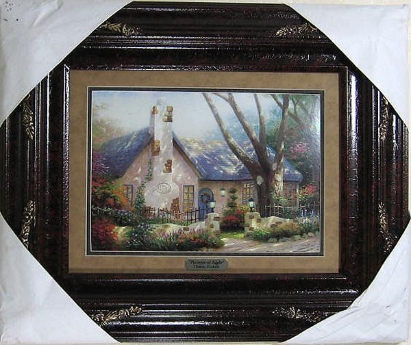 2702: Thomas Kinkade, Double Matted, Museum Framed Cale