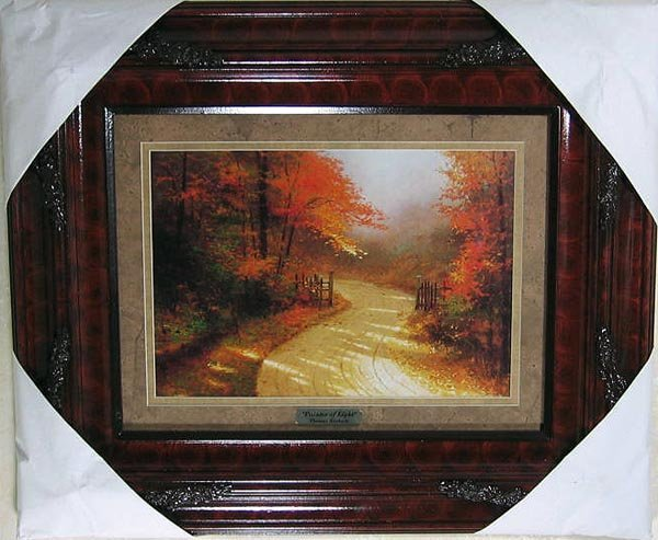 2706: Thomas Kinkade, Double Matted, Museum Framed Cale