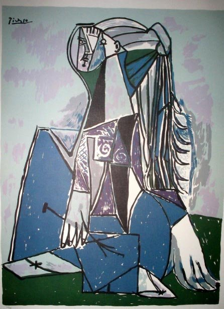 2708: PABLO PICASSO LTD ED 370 of 500 Litho - The Think