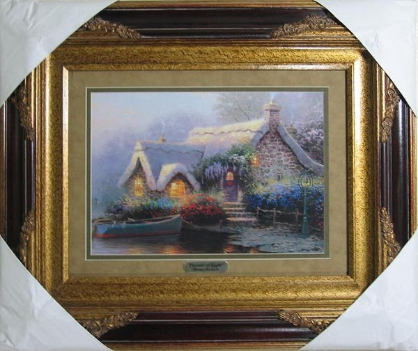 2710: Thomas Kinkade, Double Matted, Museum Framed Cale