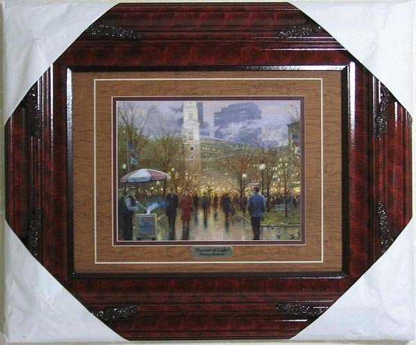 2714: Thomas Kinkade, Double Matted, Museum Framed Cale