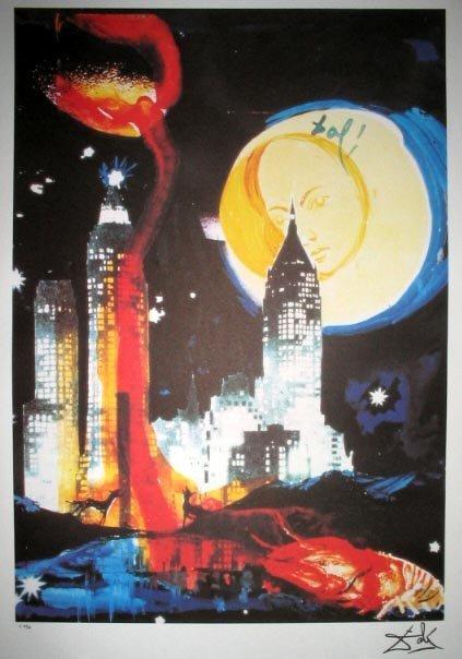 2719: SALVADOR DALI LTD ED of 500 Litho - Manhattan Sky