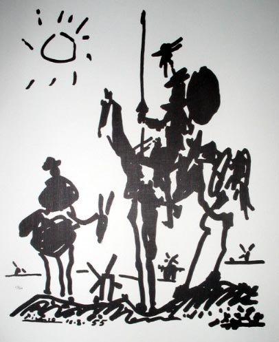 2721: PABLO PICASSO LTD ED 398 of 500 Litho - Don Quiox
