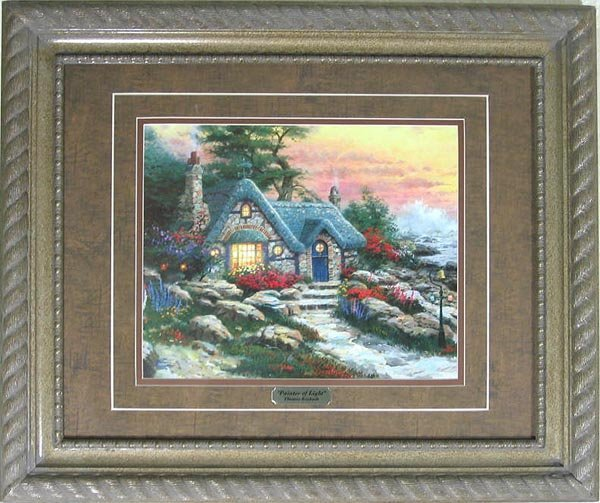 2722: Thomas Kinkade, Double Matted, Museum Framed Cale