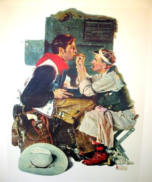 2723: NORMAN ROCKWELLLitho - The Texan, INVESTMENT!!
