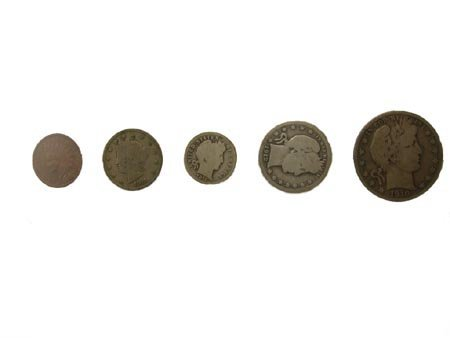 2875: N.R.! 1889 - 1916 5 Coin Type Set Coin, COLLECTOR