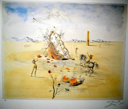 3800: SALVADOR DALI LTD ED 190 of 500 Litho - Cosmic Ho