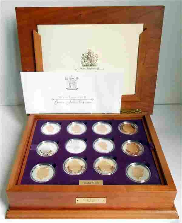 Queen Elizabeth II Golden Jubilee 24 Silver Proof Coins