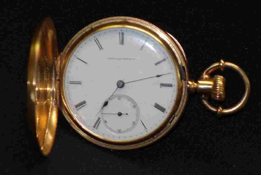 18K GOLD AWCO POCKETWATCH