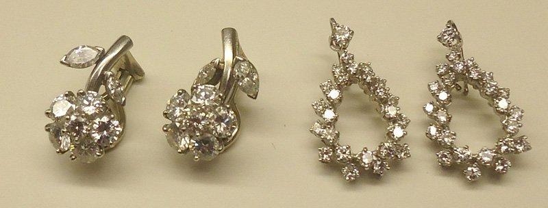 DIAMOND EARRINGS (2 PAIR)