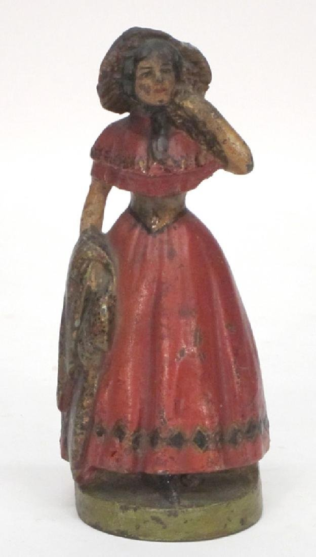 LADY IN RED DRESS DOORSTOP