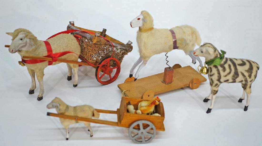 WOOLY SHEEP TOYS (4)