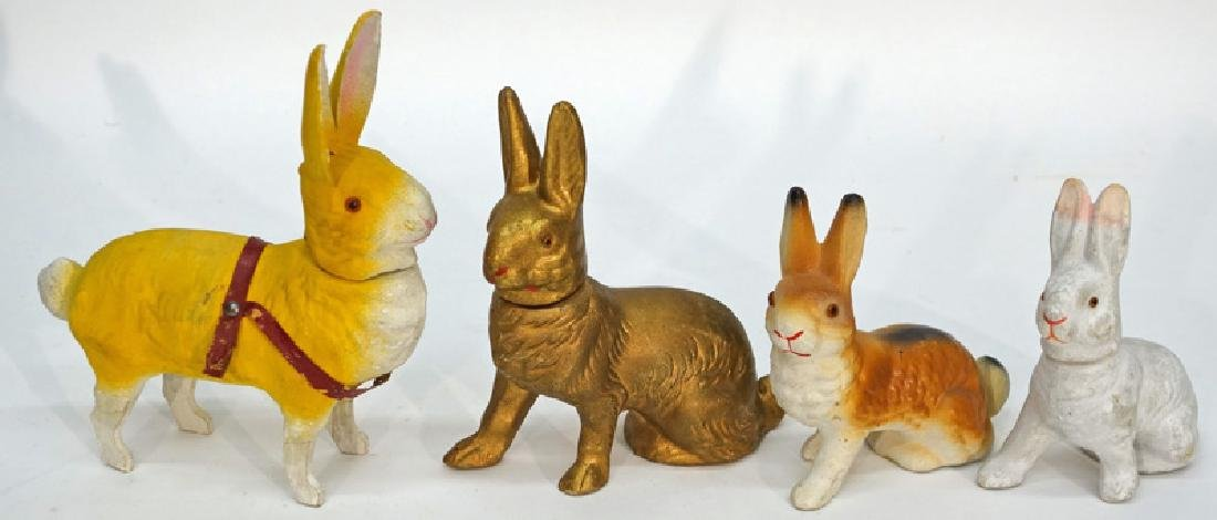 TOY & CANDY CONTAINER RABBITS (4)