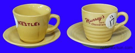1017: SODA FOUNTAIN MURRAYS & NESTLES CUP & SAUCERS