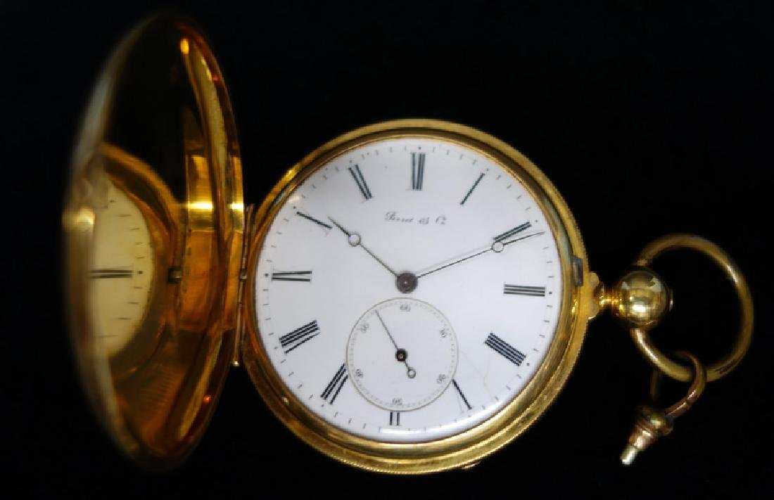 PERRET & CO. GOLD POCKET WATCH