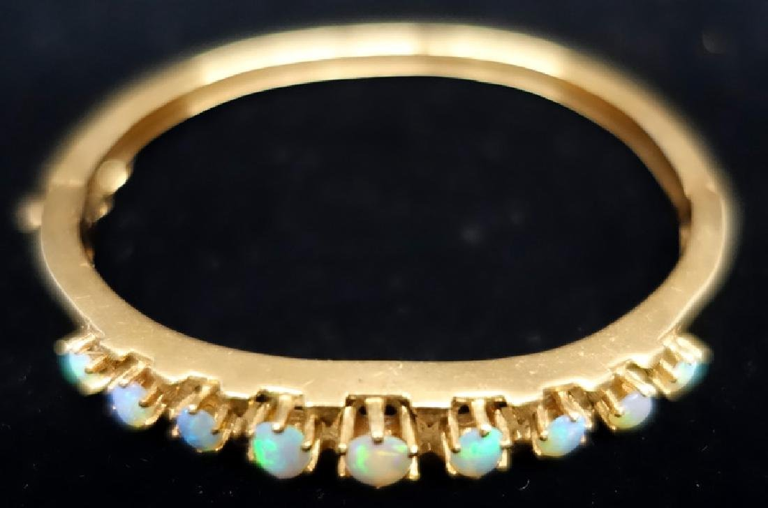GOLD & OPAL BANGLE BRACELET