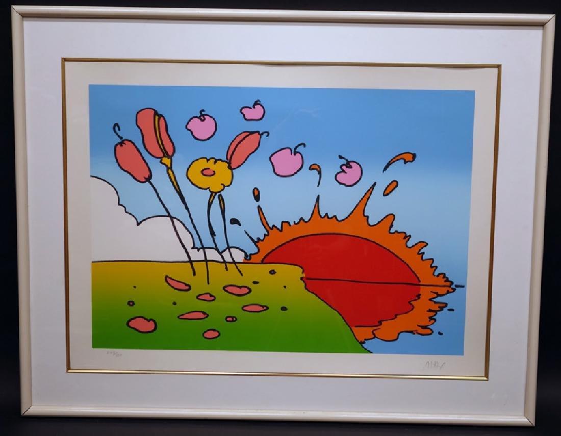 "PETER MAX LITHO ""SUNRISE FLOWERS"" (SPACE LANDSCAPE)"