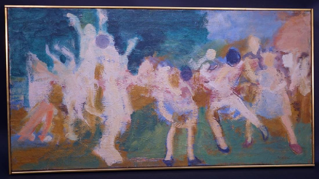 "ALBERT KRESCH ""DANCERS"" PAINTING"