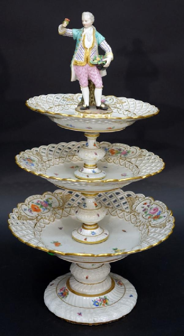MEISSEN TIERED COMPOTE